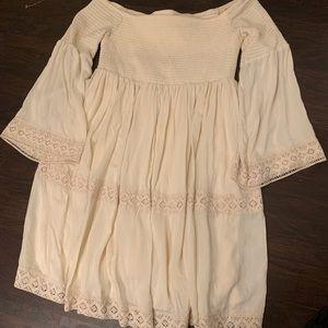 Off the shoulder bell sleeve dress!